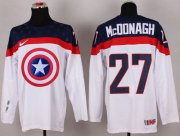 Wholesale Cheap Olympic Team USA #27 Ryan McDonagh White Captain America Fashion Stitched NHL Jersey