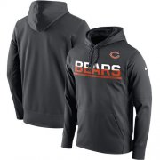Wholesale Cheap Men's Chicago Bears Nike Sideline Circuit Anthracite Pullover Hoodie
