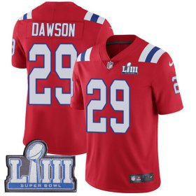 Wholesale Cheap Nike Patriots #29 Duke Dawson Red Alternate Super Bowl LIII Bound Men\'s Stitched NFL Vapor Untouchable Limited Jersey