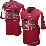 Wholesale Cheap Nike Falcons #24 Devonta Freeman Red Team Color Men's Stitched NFL Limited Strobe Jersey