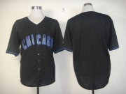 Wholesale Cheap Cubs Blank Black Fashion Stitched MLB Jersey