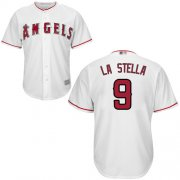 Wholesale Cheap Angels of Anaheim #9 Tommy La Stella White New Cool Base Stitched MLB Jersey