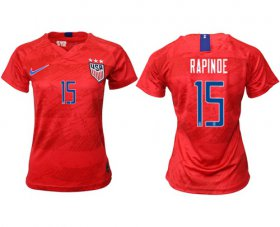 Wholesale Cheap Women\'s USA #14 Rapinoe Away Soccer Country Jersey