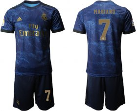 Wholesale Cheap Real Madrid #7 Mariano Dark Blue Soccer Club Jersey