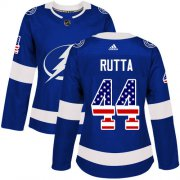 Cheap Adidas Lightning #44 Jan Rutta Blue Home Authentic USA Flag Women's Stitched NHL Jersey