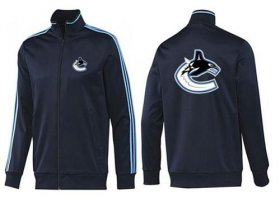 Wholesale Cheap NHL Vancouver Canucks Zip Jackets Dark Blue