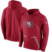 Wholesale Cheap Men's San Francisco 49ers Nike Scarlet Champ Drive Vapor Speed Performance Pullover Hoodie