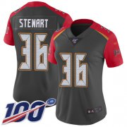 Wholesale Cheap Nike Buccaneers #36 M.J. Stewart Gray Women's Stitched NFL Limited Inverted Legend 100th Season Jersey
