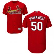 Wholesale Cheap Cardinals #50 Adam Wainwright Red Flexbase Authentic Collection Stitched MLB Jersey
