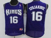 Wholesale Cheap Men's Sacramento Kings #16 Peja Stojakovic Purple Soul Swingman Jersey