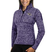 Wholesale Cheap Baltimore Ravens Antigua Women's Fortune Half-Zip Sweater Heather Purple