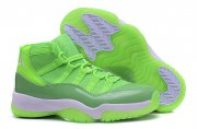 Wholesale Cheap Womens Air Jordan 11 Retro Shoes Green/White
