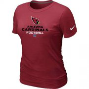 Wholesale Cheap Women's Nike Arizona Cardinals Critical Victory NFL T-Shirt Red