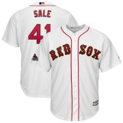 Wholesale Cheap Boston Red Sox #41 Chris Sale Majestic 2019 Gold Program Cool Base Player Jersey White