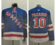 Wholesale Cheap Youth New York Rangers #10 Artemi Panarin Royal Blue Home Adidas Hockey Stitched NHL Jersey