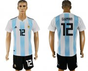 Wholesale Cheap Argentina #12 Guzman Home Soccer Country Jersey