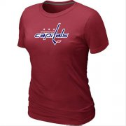 Wholesale Cheap Women's Washington Capitals Big & Tall Logo Red NHL T-Shirt
