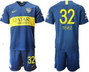 Wholesale Cheap Boca Juniors #32 Tevez Home Soccer Club Jersey