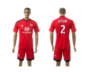 Wholesale Cheap Lyon #2 Zeffane Away Soccer Club Jersey