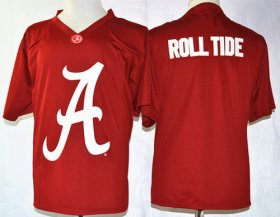 Wholesale Cheap Alabama Crimson Tide Blank Roll Tide Team Pride Fashion Red Jersey