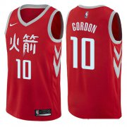 Wholesale Cheap Houston Rockets #10 Eric Gordon Red Nike NBA Men's Stitched Swingman Jersey City Edition