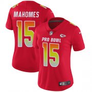 Wholesale Cheap Nike Chiefs #15 Patrick Mahomes Red Women's Stitched NFL Limited AFC 2019 Pro Bowl Jersey