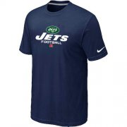 Wholesale Cheap Nike New York Jets Critical Victory NFL T-Shirt Midnight Blue