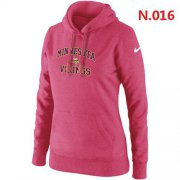 Wholesale Cheap Women's Nike Minnesota Vikings Heart & Soul Pullover Hoodie Pink