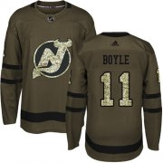 Wholesale Cheap Adidas Devils #11 Brian Boyle Green Salute to Service Stitched Youth NHL Jersey