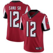 Wholesale Cheap Nike Falcons #12 Mohamed Sanu Sr Red Team Color Men's Stitched NFL Vapor Untouchable Limited Jersey