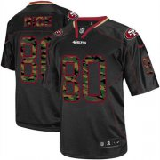 Wholesale Cheap Nike 49ers #80 Jerry Rice Black Men's Stitched NFL Elite Camo Fashion Jersey