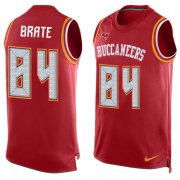 Wholesale Cheap Nike Buccaneers #84 Cameron Brate Red Team Color Men's Stitched NFL Limited Tank Top Jersey