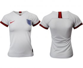 Wholesale Cheap Women\'s England Blank Home Soccer Country Jersey