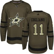 Cheap Adidas Stars #11 Andrew Cogliano Green Salute to Service Youth Stitched NHL Jersey
