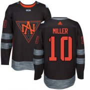 Wholesale Cheap Team North America #10 J. T. Miller Black 2016 World Cup Stitched NHL Jersey