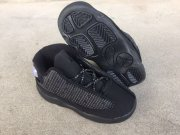 Wholesale Cheap Little Kids Jordan 13 Shoes Black Grey