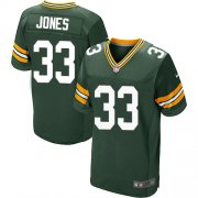 Wholesale Cheap Nike Packers #33 Aaron Jones Green Team Color Men's Stitched NFL Elite Jersey