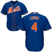 Wholesale Cheap New York Mets #4 Jed Lowrie Cool Base Royal Stitched MLB Jersey