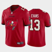 Wholesale Cheap Tampa Bay Buccaneers #13 Mike Evans Red Men's Nike Big Team Logo Vapor Limited NFL Jersey