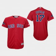 Wholesale Cheap Red Sox #17 Nathan Eovaldi Red Cool Base 2018 World Series Champions Stitched Youth MLB Jersey