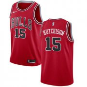 Wholesale Cheap Nike Chicago Bulls #15 Chandler Hutchison Red NBA Swingman Icon Edition Jersey