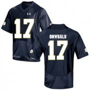 Wholesale Cheap Notre Dame Fighting Irish 17 James Onwualu Navy College Football Jersey
