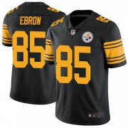 Wholesale Cheap Youth Pittsburgh Steelers #85 Eric Ebron Color Rush Jersey - Black Limited