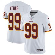 Wholesale Cheap Nike Redskins #99 Chase Young White Men's Stitched NFL Vapor Untouchable Limited Jersey