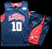 Wholesale Cheap 2012 Olympic USA Team #10 Kobe Bryant Blue Basketball Jerseys & Shorts Suit