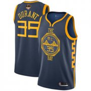 Wholesale Cheap Warriors #35 Kevin Durant Navy 2019 Finals Bound Basketball Swingman City Edition 2018-19 Jersey