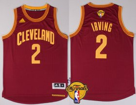 Wholesale Cheap Men\'s Cleveland Cavaliers #2 Kyrie Irving 2017 The NBA Finals Patch Red Jersey