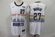 Wholesale Cheap Men's Nuggets 27 Jamal Murray White 2018-19 City Edition Nike Swingman Jersey