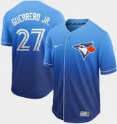 Wholesale Cheap Nike Blue Jays #27 Vladimir Guerrero Jr. Royal Fade Authentic Stitched MLB Jersey