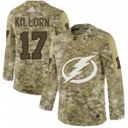 Wholesale Cheap Adidas Lightning #17 Alex Killorn Camo Authentic Stitched NHL Jersey